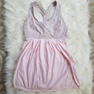 Lululemon Power Dance Tank Top Sz 6 Baby Pink Grey